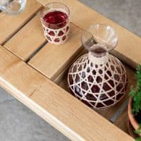 Rattan And Glass Tumblers   Home Accessories